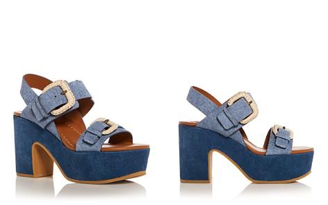 See by Chloé Women's Denim Print Suede High Heel Platform Sandals - Bloomingdale's_2