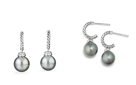 David Yurman Solari Drop Earrings with Diamonds & Cultured Tahitian Gray Pearls - Bloomingdale's_2