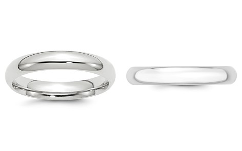 Bloomingdale's Men's 4mm Comfort Fit Band Ring in 14K White Gold - 100% Exclusive_2