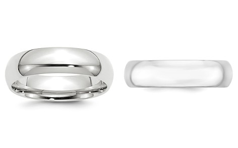Bloomingdale's Men's 6mm Comfort Fit Band Ring in 14K White Gold - 100% Exclusive_2