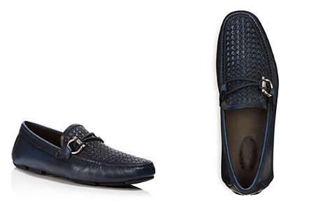 Salvatore Ferragamo Men's Front 2 Gancio Textured Drivers - Bloomingdale's_2