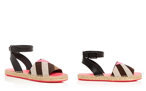 Burberry Women's Abbins House Check Ankle Strap Espadrille Sandals - Bloomingdale's_2