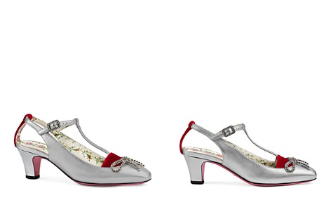 Gucci Women's Anita Bow Leather T-Strap 55mm Pumps - Bloomingdale's_2
