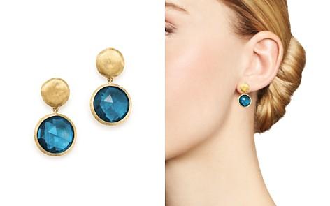 Marco Bicego 18K Yellow Gold Jaipur London Blue Topaz Double Drop Earrings - Bloomingdale's_2