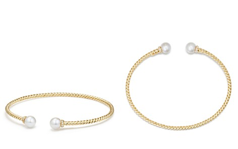 David Yurman Solari Pearl Bracelet with Cultured Akoya Pearls & Diamonds in 18K Gold - Bloomingdale's_2