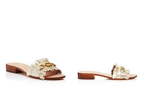 kate spade new york Women's Beau Leather Slide Sandals - Bloomingdale's_2