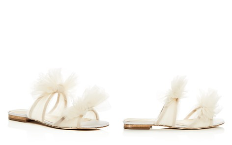 Isa Tapia Women's Nicoletta Tulle Bow Slide Sandals - Bloomingdale's_2