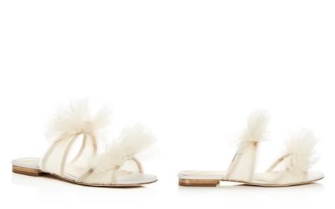 Isa Tapia Women's Nicoletta Tulle Bow Slide Sandals - Bloomingdale's_2