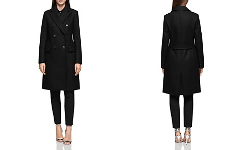 REISS Betty Double-Breasted Military-Style Coat - Bloomingdale's_2