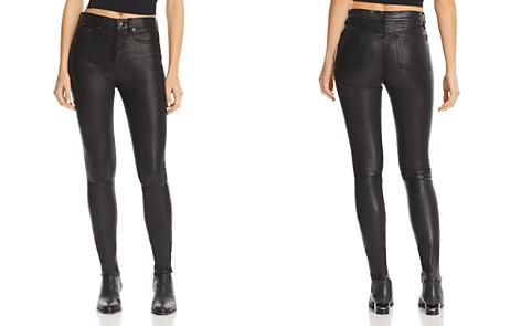 Rag & bone/JEAN High-Rise Skinny Leather Pants - Bloomingdale's_2