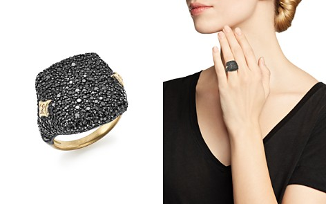 Armenta 18K Yellow Gold & Blackened Sterling Silver Old World Champagne Diamond & Black Sapphire Signet Ring - Bloomingdale's_2
