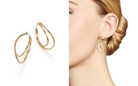 Bloomingdale's Twisted Double Hoop Earrings in 14K Yellow Gold - 100% Exclusive_2