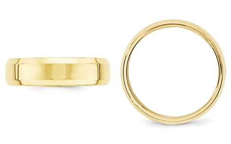 Bloomingdale's Men's 6mm Bevel Edge Comfort Fit Band 14K Yellow Gold - 100% Exclusive_2