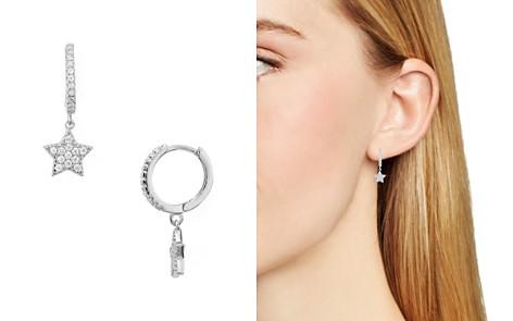 AQUA Sterling Silver Star Hoop Earrings - 100% Exclusive - Bloomingdale's_2