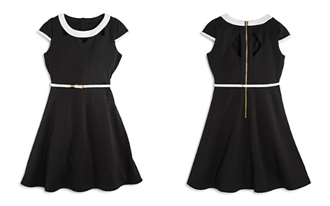 US Angels Girls' Textured Dress with Cutout Details - Big Kid - Bloomingdale's_2