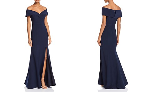 AQUA Off-the-Shoulder Gown - 100% Exclusive - Bloomingdale's_2