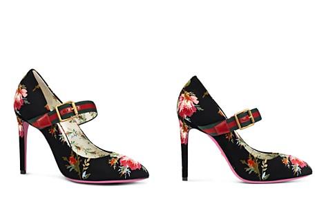Gucci Women's Sylvie Printed Velvet Mary Jane Pumps - Bloomingdale's_2