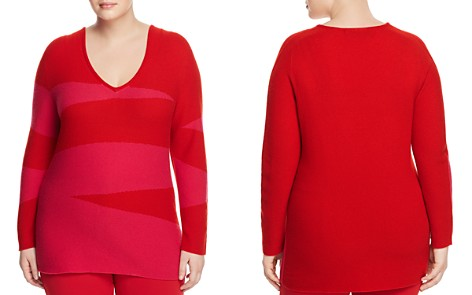 Marina Rinaldi Aria Color-Blocked Cashmere Sweater - Bloomingdale's_2