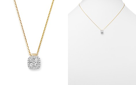 "Frederic Sage 18K White & Yellow Gold Firenze Diamond Small Cushion Pendant Necklace, 16"" - Bloomingdale's_2"