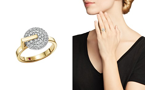 Roberto Coin 18K White & Yellow Gold Diamond Disk Ring - Bloomingdale's_2