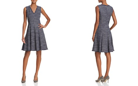 Rebecca Taylor Fray-Trimmed Tweed Dress - Bloomingdale's_2