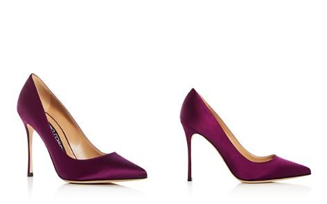 Sergio Rossi Women's Godiva Satin Pointed Toe Pumps - Bloomingdale's_2