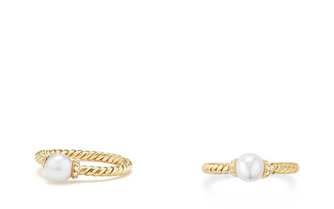 David Yurman Solari Station Ring with Cultured Freshwater Pearl & Diamonds in 18K Gold - Bloomingdale's_2