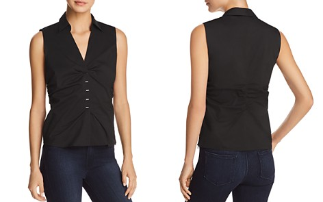 Elie Tahari Vichi Ruched Sleeveless Blouse - 100% Exclusive - Bloomingdale's_2