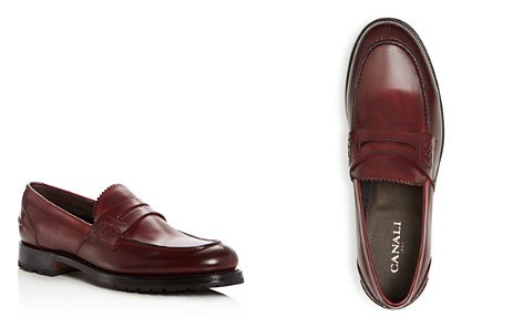 Canali Men's Leather Penny Loafers - Bloomingdale's_2