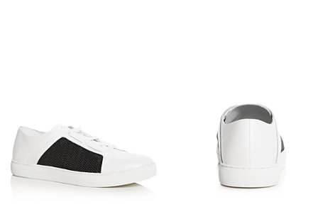 Armani Men's Leather & Mesh Lace Up Sneakers - Bloomingdale's_2