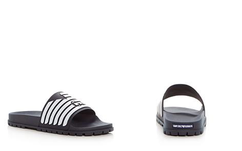 Armani Men's Embossed Logo Slide Sandals - Bloomingdale's_2