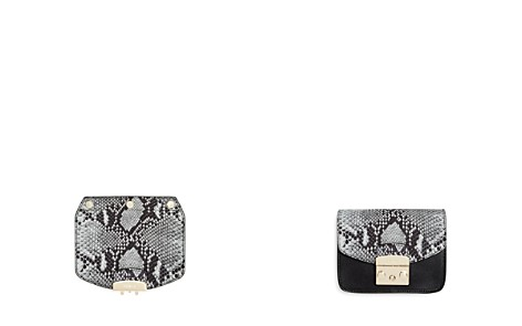 Furla MY PLAY Interchangeable Metropolis Mini Snake Embossed Leather Flap - Bloomingdale's_2