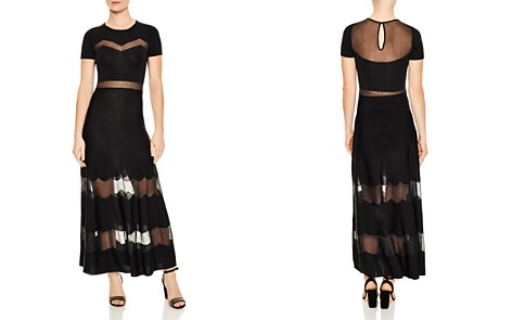 Sandro Faty Mesh-Inset Maxi Dress - Bloomingdale's_2