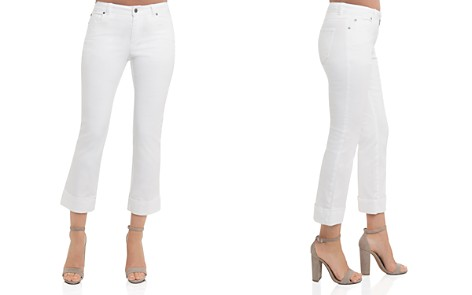 Foxcroft Cropped Jeans in White - Bloomingdale's_2