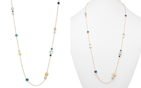 """Marco Bicego 18K Yellow Gold Jaipur Mixed Blue Topaz Long Necklace, 34"""" - 100% Exclusive - Bloomingdale's_2"""