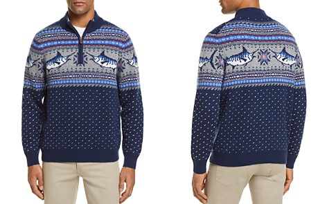Vineyard Vines Marlin Pattern Quarter-Zip Sweater - Bloomingdale's_2