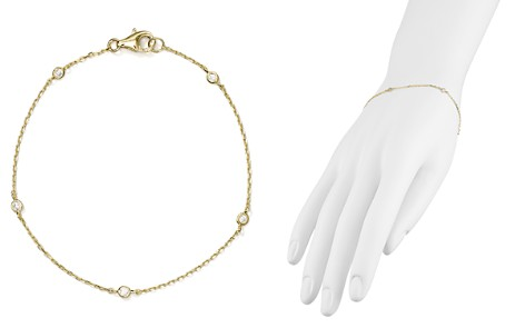 AQUA Sterling Silver Thin Chain Bracelet - 100% Exclusive - Bloomingdale's_2