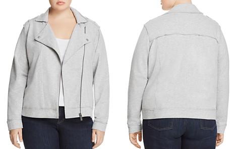 VINCE CAMUTO Plus Heathered Knit Moto Jacket - Bloomingdale's_2