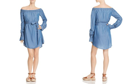 MICHAEL Michael Kors Off-the-Shoulder Chambray Dress - 100% Exclusive - Bloomingdale's_2