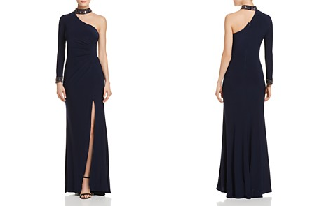 Avery G Choker-Neck One-Shoulder Gown - Bloomingdale's_2