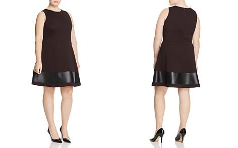 Love Ady Plus Faux Leather-Hem Dress - Bloomingdale's_2