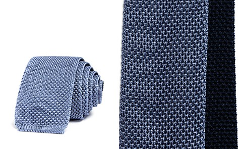 Theory Solid Knit Skinny Tie - Bloomingdale's_2