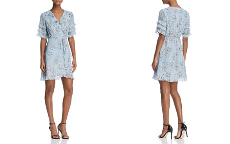 AQUA Ruffled Floral Print Wrap Dress - 100% Exclusive - Bloomingdale's_2