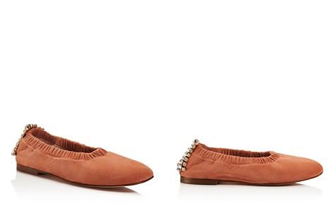 Stuart Weitzman Women's Dixie Embellished Square Toe Flats - Bloomingdale's_2