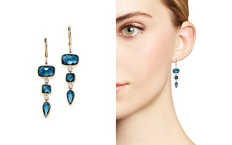 Olivia B 14K Yellow Gold Tiered London Blue Topaz & Diamond Drop Earrings - 100% Exclusive - Bloomingdale's_2