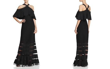 Tadashi Shoji Cold-Shoulder Pintuck Gown - Bloomingdale's_2