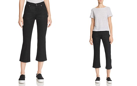 Eileen Fisher Cropped Bootcut Jeans in Black - Bloomingdale's_2