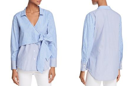 Bardot Striped Faux-Wrap Shirt - Bloomingdale's_2