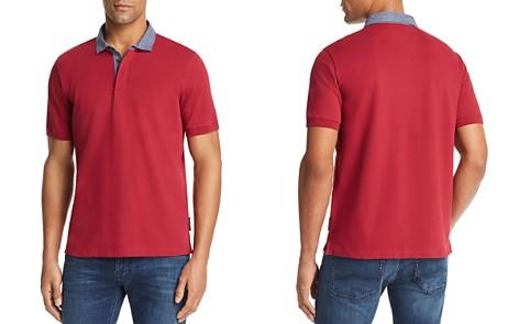 Emporio Armani Striped Collar Regular Fit Polo - Bloomingdale's_2