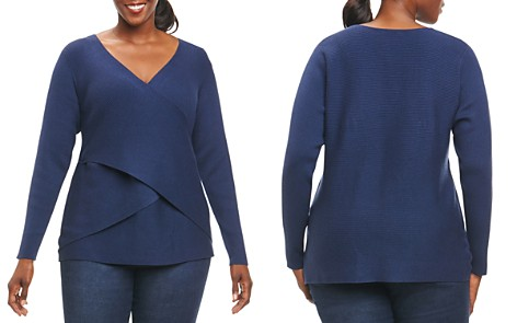 Foxcroft Plus Crossover Sweater - Bloomingdale's_2